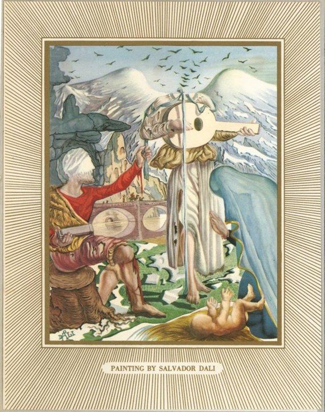 Справжня психоделія: як виглядають різдвяні листівки від Сальвадора Далі - фото 376748