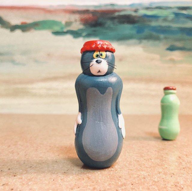 Японський художник перетворює епічні моменти з Тома і Джеррі у фігурки - фото 377195