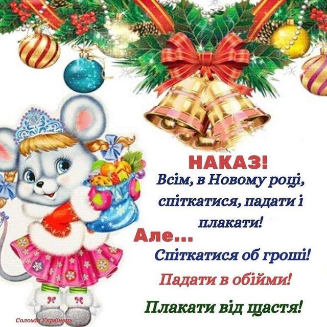Прикольні привітання з Новим роком 2020: жартівливі новорічні побажання - фото 377584