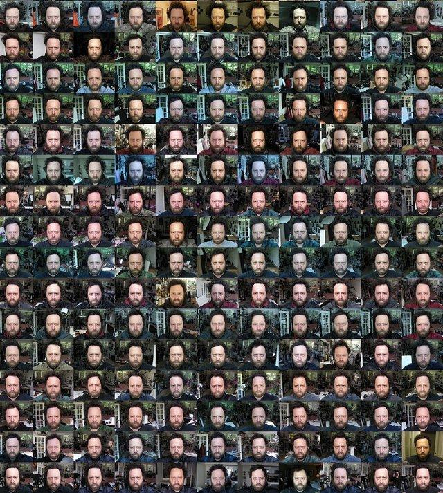 Чоловік 20 років щодня робив селфі: дивіться, як він змінився за цей час - фото 379697