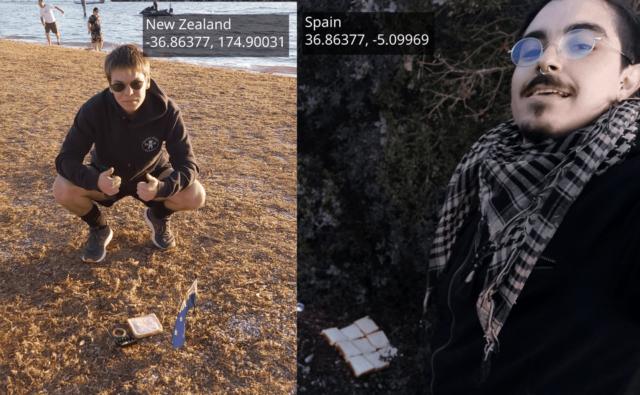 12 700 км начинки: іспанець і новозеландець зробили сендвіч з Землею (фотофакт) - фото 381423