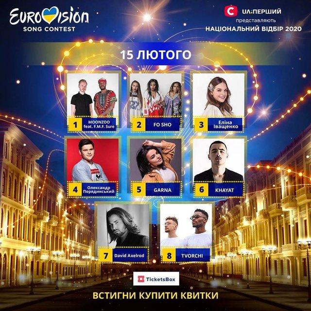 Відбір на Євробачення 2020: відомий порядок виступів учасників у півфіналах - фото 381452