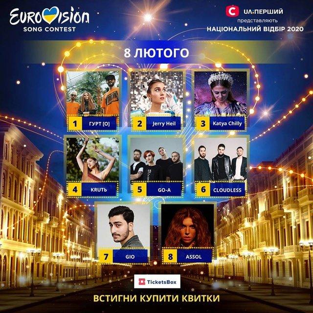Відбір на Євробачення 2020: відомий порядок виступів учасників у півфіналах - фото 381453