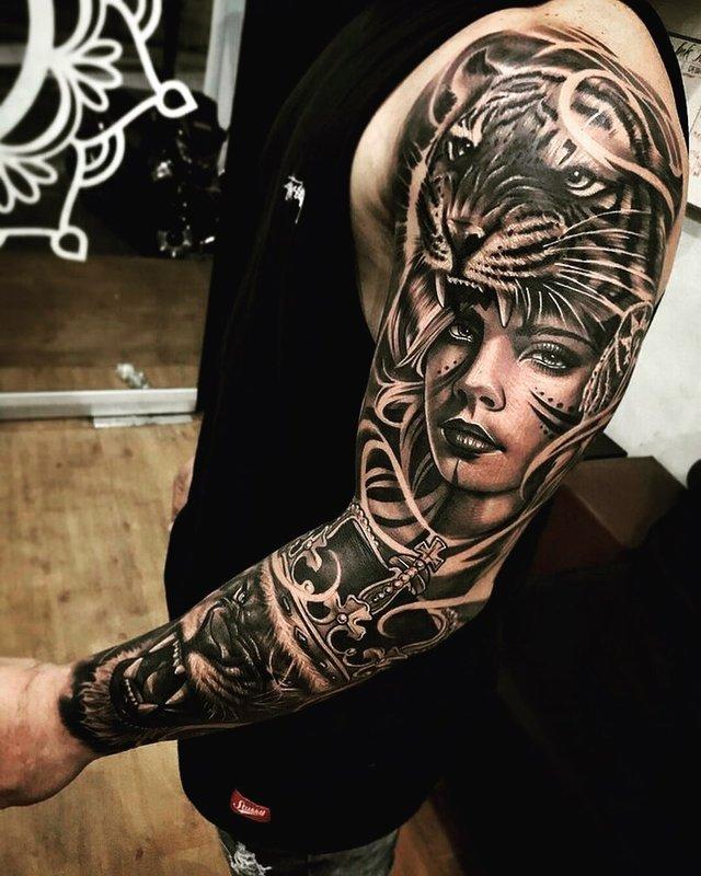 Модні чоловічі татуювання 2020: ТОП 50 ідей та прикладів тату у фото - фото 381605