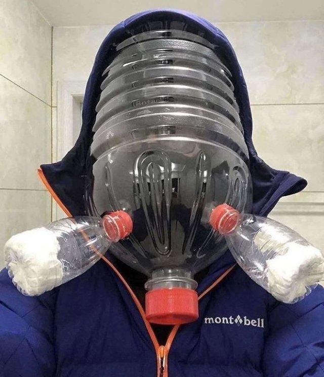 15 дивних способів, які люди використовують для захисту від коронавірусу: епічні фото - фото 383601