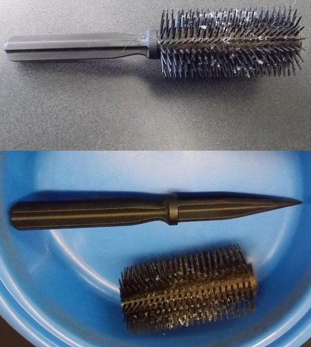 Рогатка та щітка-ніж: транспортна поліція США показує дивні речі пасажирів - фото 384023
