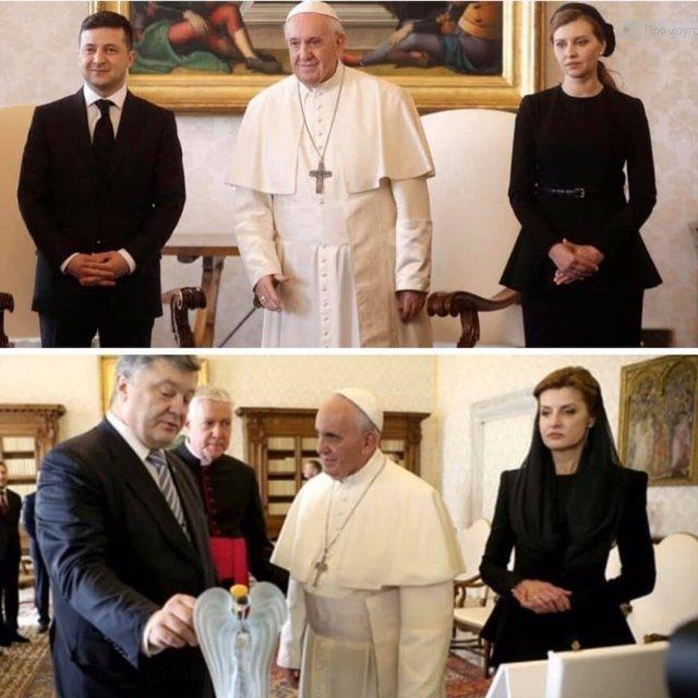 Експерти пояснили, чому Олена Зеленська у Ватикані була в чорному - фото 385183