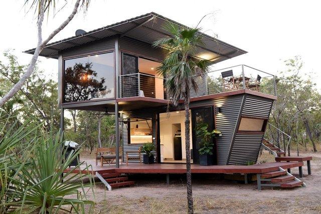 Австралійці зробили дім для мандрівників із контейнерів: ефектні фото - фото 386306