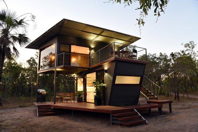 Австралійці зробили дім для мандрівників із контейнерів: ефектні фото - фото 386315