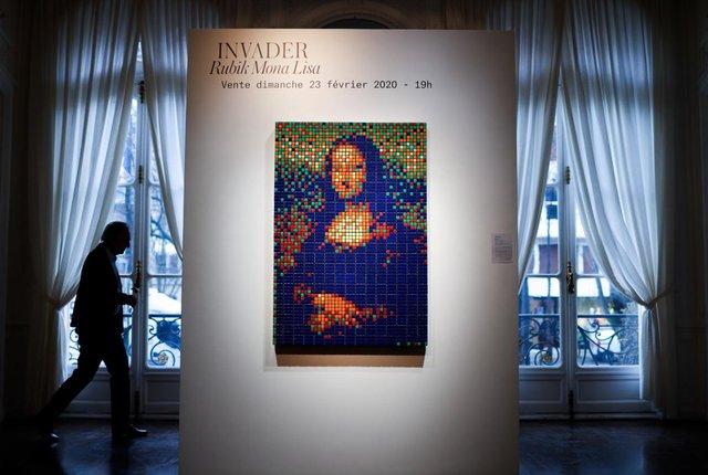 На аукціоні продали Мону Лізу з кубиків Рубіка - фото 388192