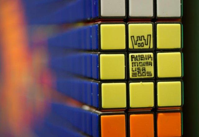 На аукціоні продали Мону Лізу з кубиків Рубіка - фото 388193