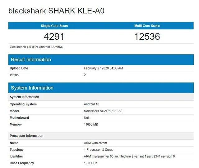 Ігровий Black Shark 3 протестували в Geekbench до анонсу - фото 388836
