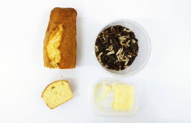 Вчені приготували кекс з 'масла' комах - фото 389280