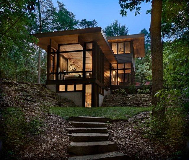 Архітектори створили будиночок в лісі, про який мріють всі - фото 391507