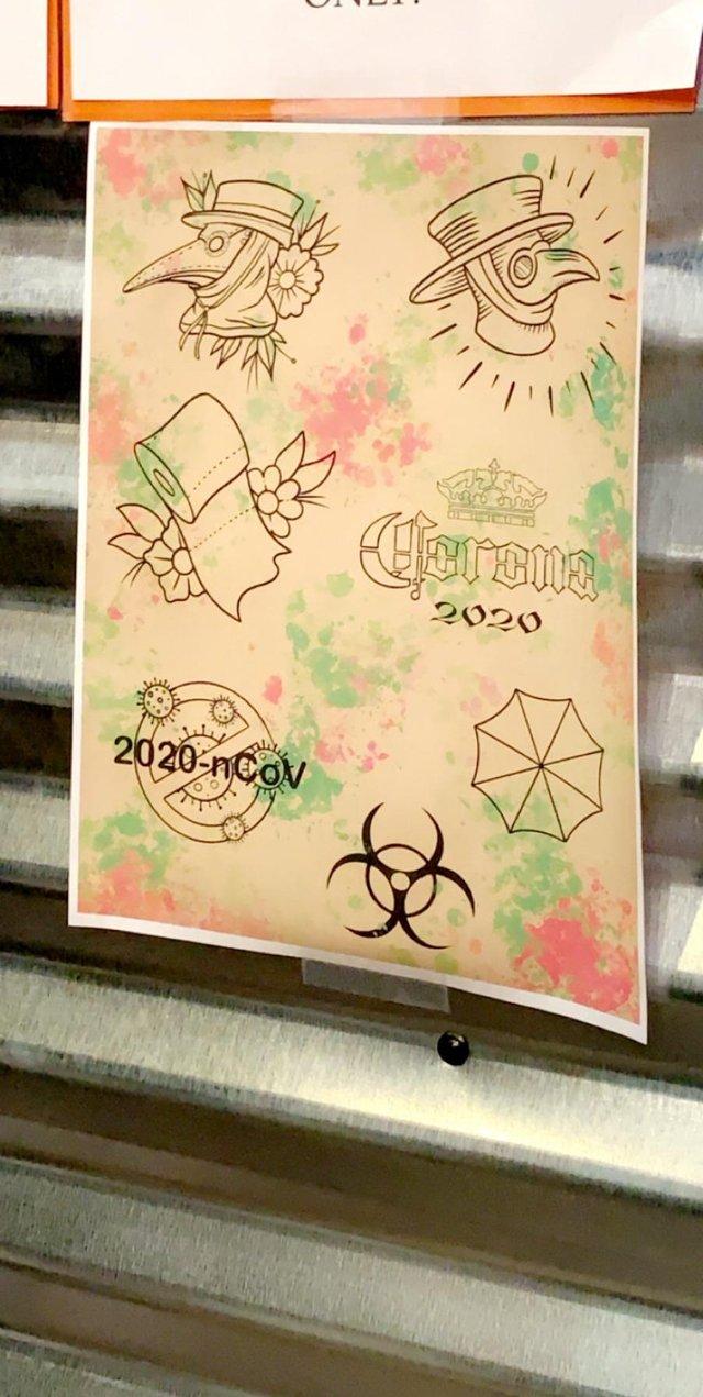 У мережі показали татуювання, присвячені коронавірусу - фото 392779
