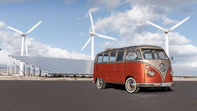 Volkswagen перетворила культовий мікроавтобус 60-х на електрокар - фото 394148