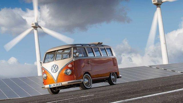 Volkswagen перетворила культовий мікроавтобус 60-х на електрокар - фото 394149