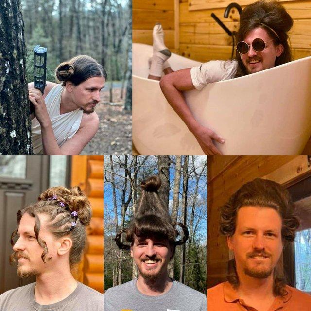 Перукарка на карантині робить зачіски своєму хлопцю: епічні фото - фото 394319