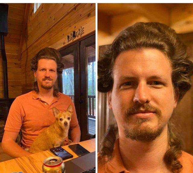 Перукарка на карантині робить зачіски своєму хлопцю: епічні фото - фото 394320