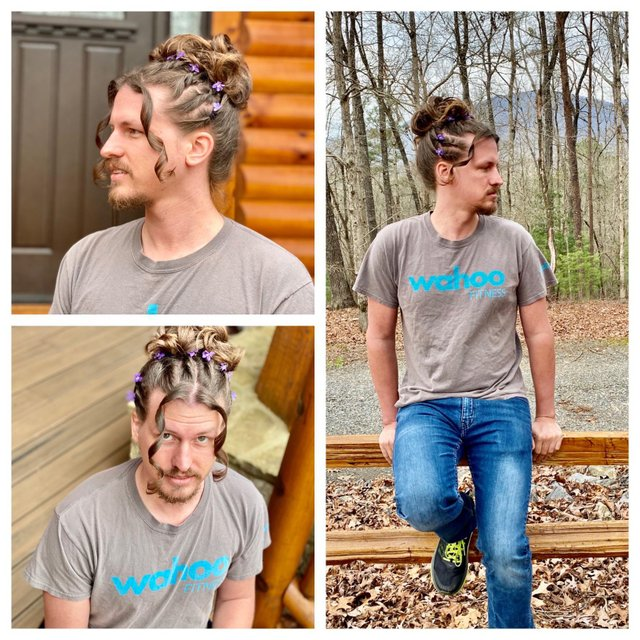 Перукарка на карантині робить зачіски своєму хлопцю: епічні фото - фото 394321