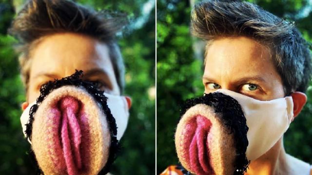 Австралійська медсестра пошила маску для обличчя в вигляді вагіни: фотофакт - фото 395250