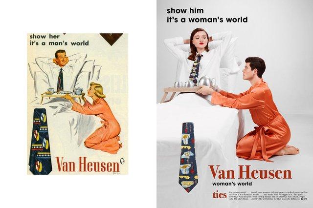 Художник переробив сексистську рекламу, помінявши місцями чоловіків і жінок - фото 396535