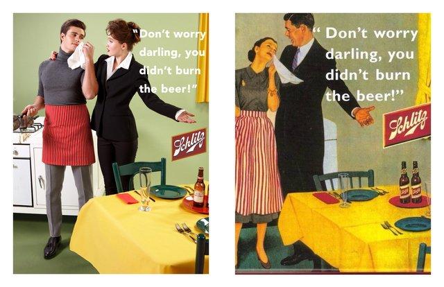 Художник переробив сексистську рекламу, помінявши місцями чоловіків і жінок - фото 396540
