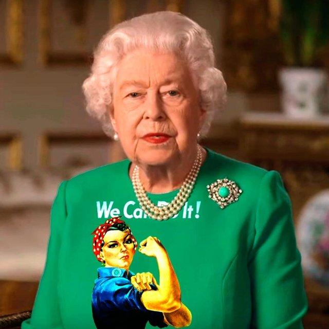 Єлизавету II перетворили на новий мем - фото 396695