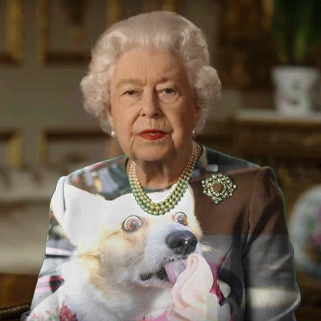 Єлизавету II перетворили на новий мем - фото 396696