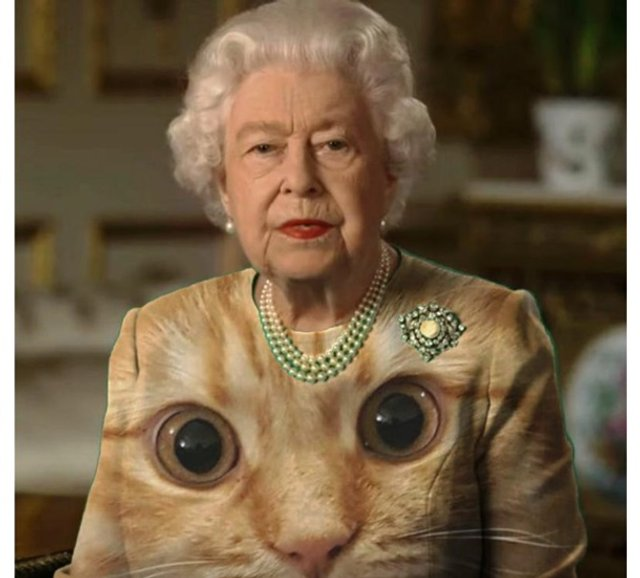 Єлизавету II перетворили на новий мем - фото 396701