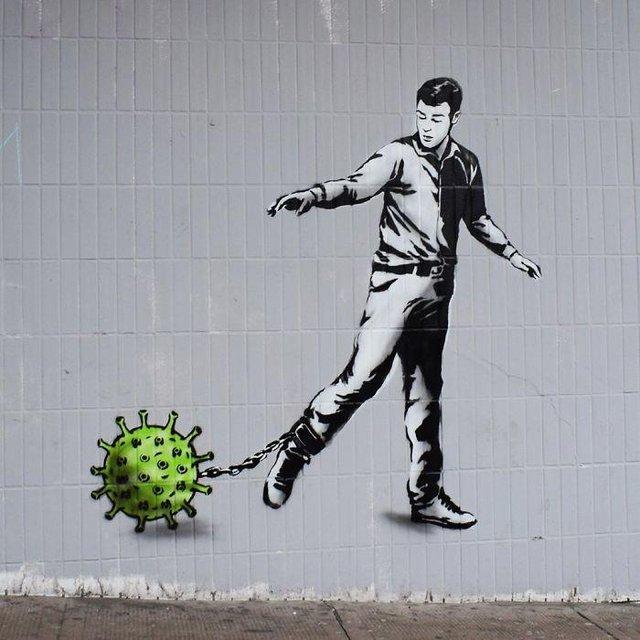 Потужні графіті про коронавірус: добірка фото з усього світу - фото 397600