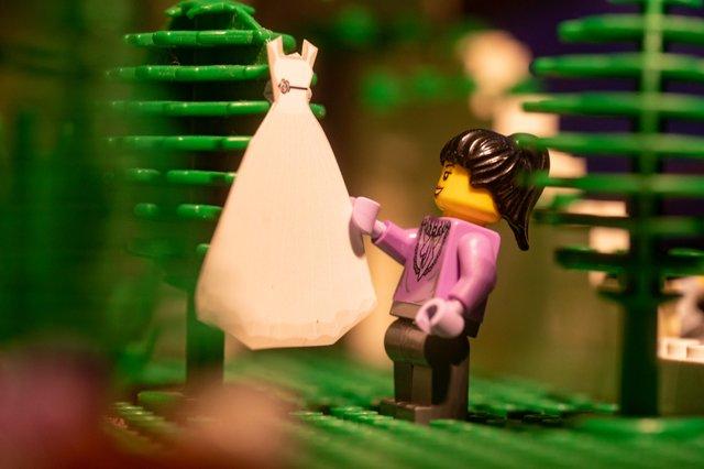 Карантин – не завада: весільний фотограф зробив фотосесію для Lego-молодят - фото 398114