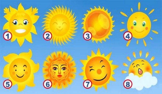 Вибери сонце на картинці та дізнайся свою позитивну рису: простий тест - фото 402062