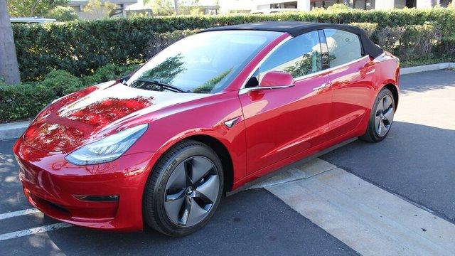Електромобіль Tesla Model 3 перетворили у кабріолет: ефектні фото - фото 405575