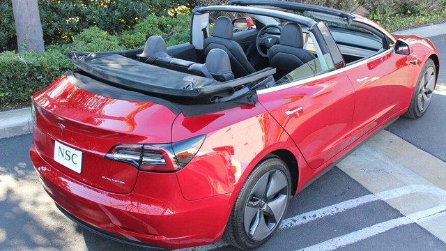Електромобіль Tesla Model 3 перетворили у кабріолет: ефектні фото - фото 405576
