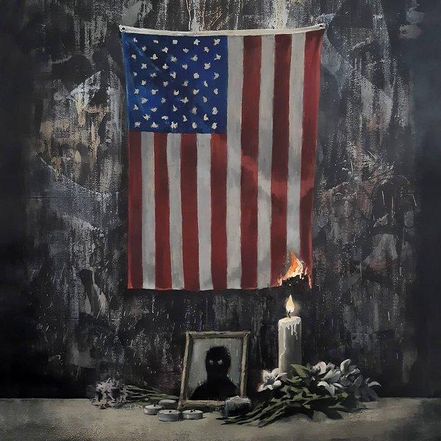 Бенксі присвятив новий малюнок положенню темношкірих в США - фото 408634
