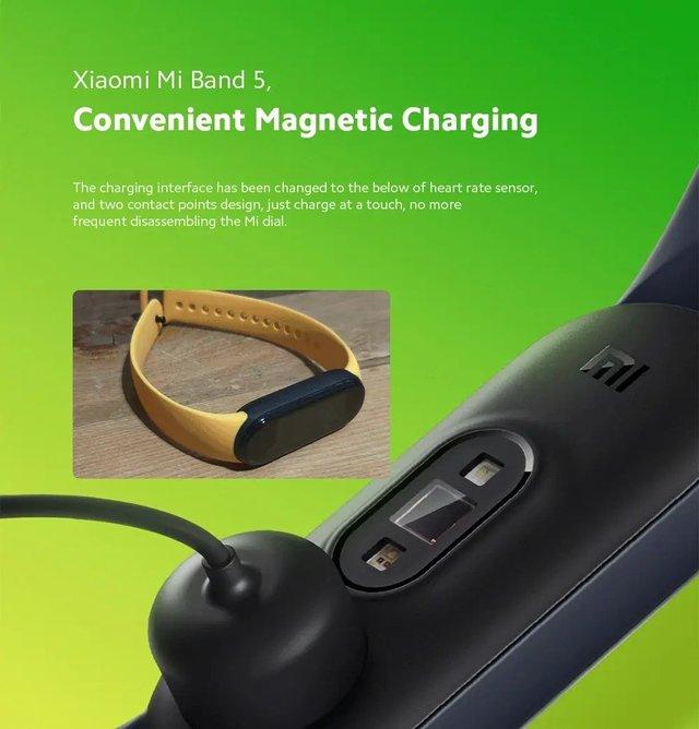 Представлено Xiaomi Mi Band 5: магнітна зарядка, NFC та збільшений екран - фото 409506