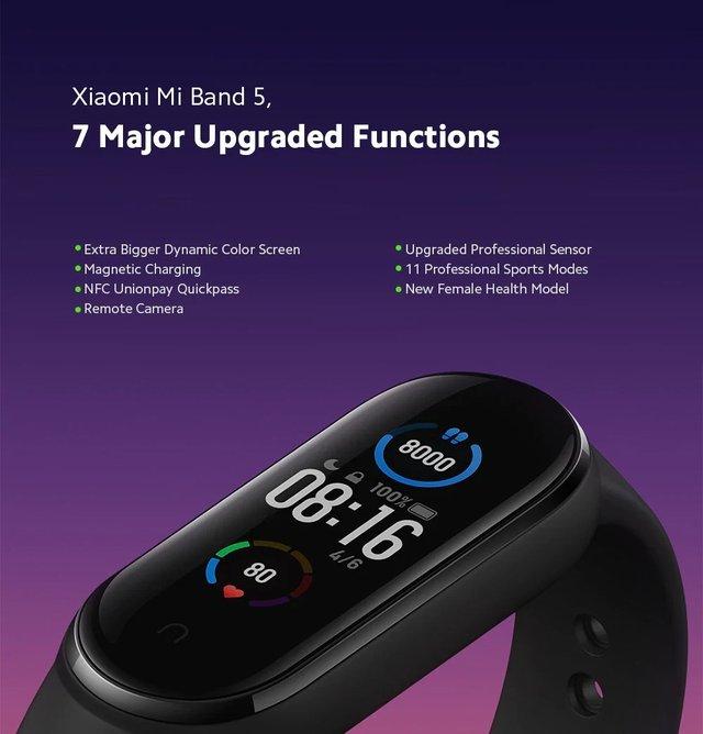 Представлено Xiaomi Mi Band 5: магнітна зарядка, NFC та збільшений екран - фото 409507