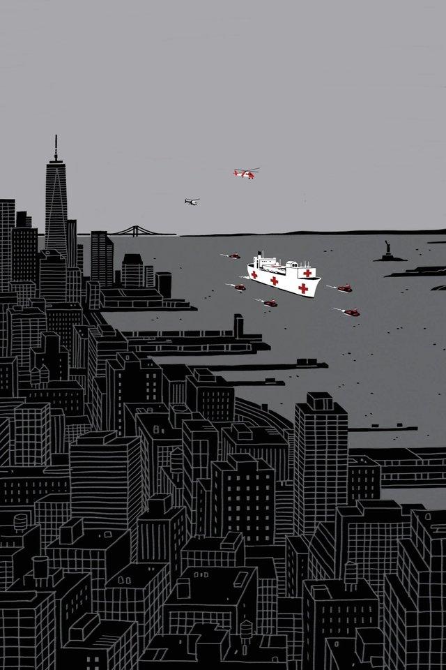 Художники з різних країн світу намалювали листівки на тему пандемії - фото 410059