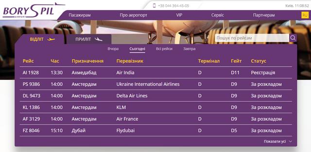 Розклад рейсів з Борисполя на 15 червня  - фото 410112