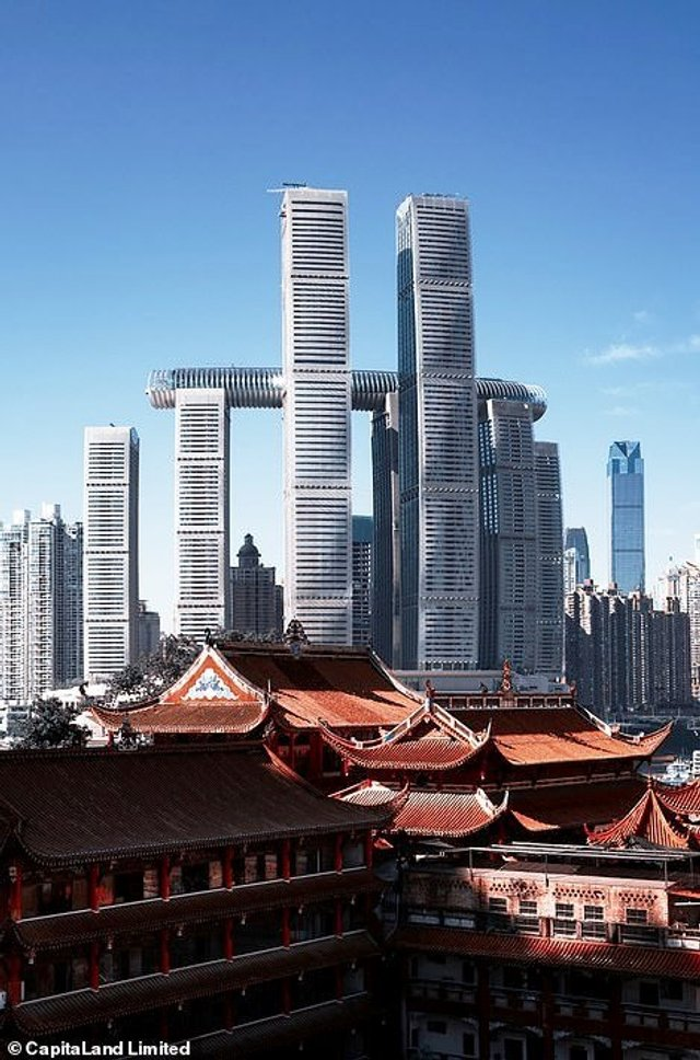 У Китаї побудували горизонтальний хмарочос: вражаючі фото - фото 410133