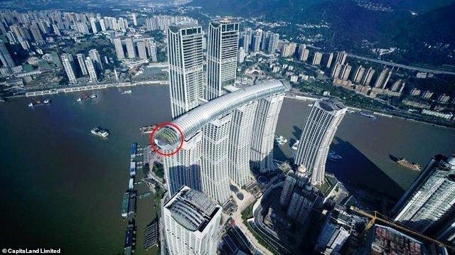 У Китаї побудували горизонтальний хмарочос: вражаючі фото - фото 410136