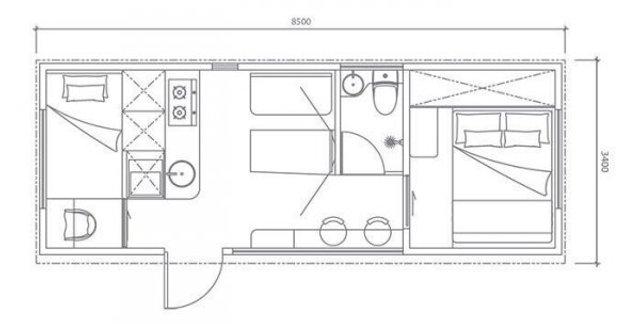 Як виглядає розумний дім на 25 квадратних метрах: фото - фото 411345