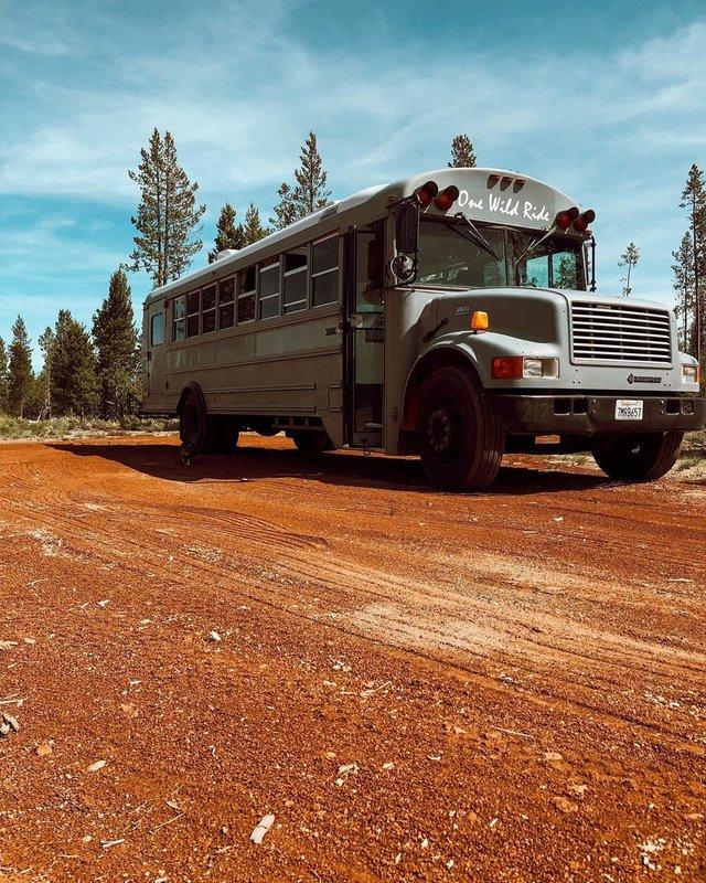Пара із США перетворила старий шкільний автобус на атмосферний дім на колесах - фото 414239