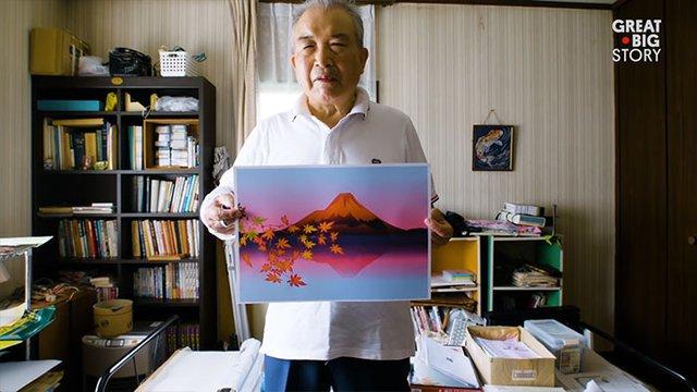 80-річний японець створює шедевральні картини у Microsoft Excel - фото 414539