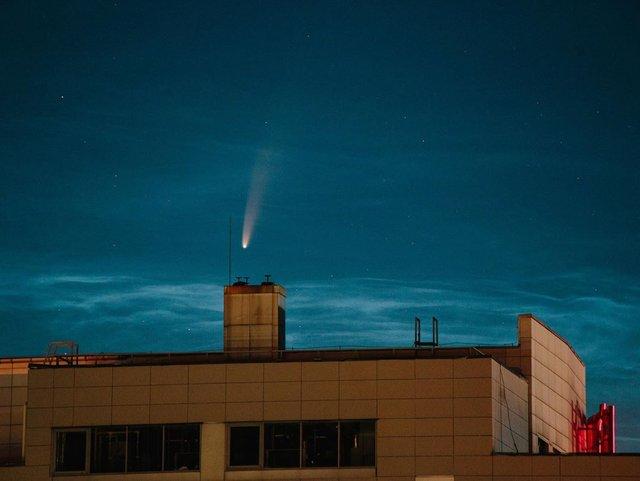 Український фотограф зробив фото комети над Запоріжжям - фото 415504