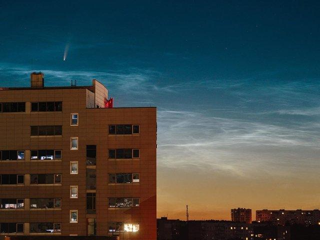 Український фотограф зробив фото комети над Запоріжжям - фото 415506