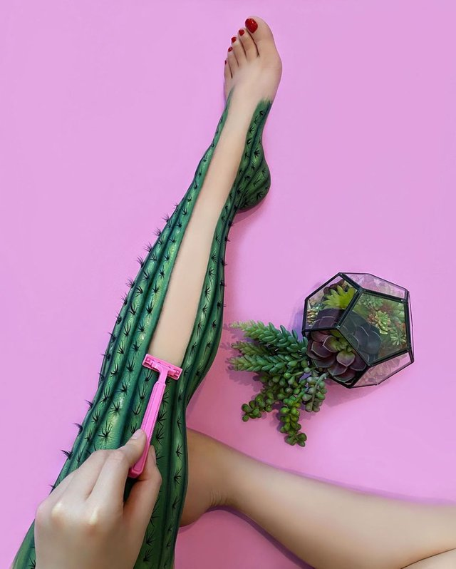 Візажистка створює на своєму тілі ілюзії, які здатні обдурити ваші очі - фото 415779