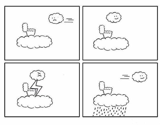 Художник з Китаю створює мінімалістичні комікси з несподіваною кінцівкою - фото 416120