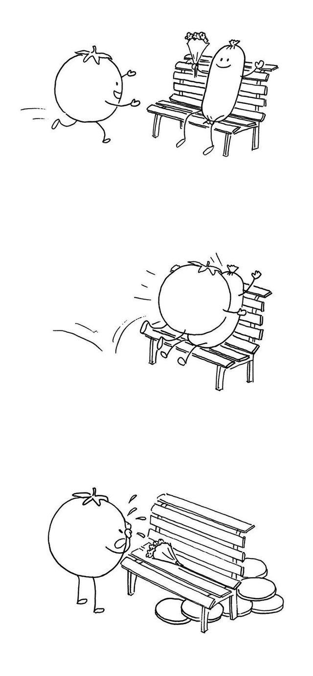 Художник з Китаю створює мінімалістичні комікси з несподіваною кінцівкою - фото 416122